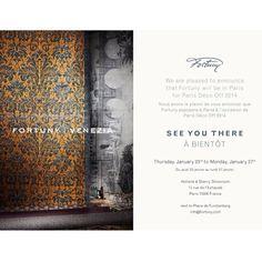 See you in Paris? blog.fortuny.com #ParisDecoOff #design #beauty