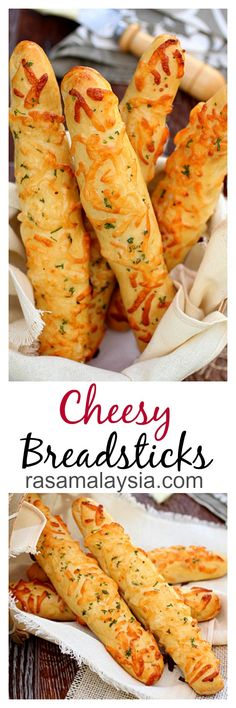 Cheese breadsticks recipe. Homemade cheese breadsticks are the best. Make these at home | rasamalaysia.com