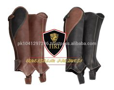 Two Tone Leather Half Chaps&gaiters / Horse Riding Geniun Leather Half Chaps…