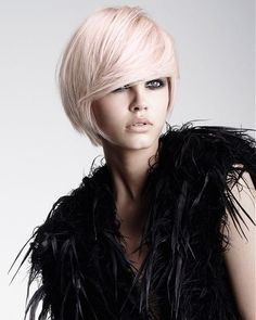 Choppy Bob Hairstyles - Choppy bob hairstyles are a great fit for most face shapes and they can add texture to your locks for a better look. Find out more about choppy bob hairstyles. Bold Hair Color, Hair Color For Women, Hair Color Highlights, Hair Colors, Pink Color, Prom Hairstyles For Short Hair, Choppy Bob Hairstyles, Cool Hairstyles, Bridesmaid Hairstyles