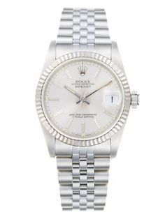 Rolex Round Oyster Perpetual Datejust Stainless Steel & Silver Dial Watch, 30mm - $4300