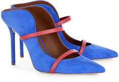 Malone Souliers Royal Blue Maureen Pointed Mules