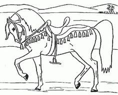 Ausmalbilder Pferde Drucken