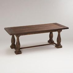 One of my favorite discoveries at WorldMarket.com: Rustic Java Greyson Fixed Dining Table