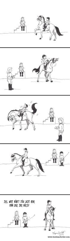 Because who doesn't wonder if their trainer has some sort of *majikal* ass able to transmit otherworldly messages to the horse or perhaps even inflict a sort of mind control upon them?  theideaoforder.com