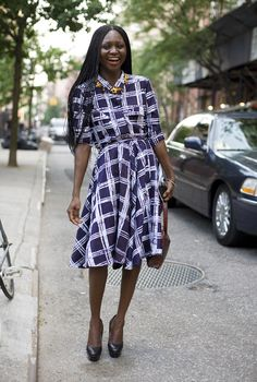 oroma elewa, new york street fashion, patterned dress