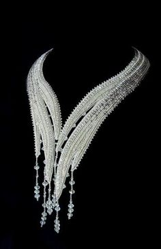 Have no idea what jewels (or beads) these are, but on a black dress, this would be pure elegance.