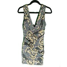 Bodycon V-neck Dress  Form-fitting patterned v-neck dress. Comment with questions! Dresses