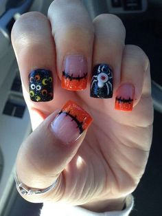 Opting for bright colours or intricate nail art isn't a must anymore. This year, nude nail designs are becoming a trend. Here are some nude nail designs. Holiday Nail Designs, Halloween Nail Designs, Holiday Nail Art, Fall Nail Art, Cute Nail Designs, Fall Nail Ideas Gel, Fall Toe Nail Designs, Fancy Nails, Love Nails