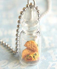 tacos in a jar necklace