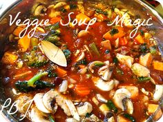 Veggie soup in the Instant Pot
