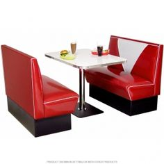 Retro american diner game dev mood board pinterest diners shabby chic kitchen and 50s diner - Kitchen booths for sale ...