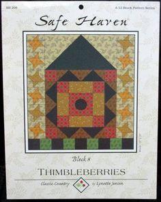 Safe Haven quilt block pattern, Jensen, Lynette