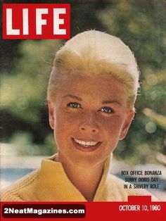 Life Magazine October 10, 1960: Cover - Very cute photo of Doris Day with her hair pulled back.