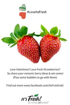 Enter our Valentines Competition to win Strawberries & Champagne find out more at http://www.foodfreshnesstechnology.com/loveitsfresh-valentines-strawberry-competition/ or on our Facebook page https://www.facebook.com/ItsFreshLtd/