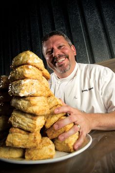 Honey Buttermilk Biscuits - Chef Jeremy Sewall of the Island Creek Oyster Bar in Boston shared with us his secret for his excellent biscuits: Use grated frozen butter in the batter to prevent the dough from getting overworked and tough.