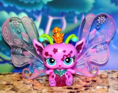 Littlest Pet Shop #2831 PURPLE SPARKLE QUEEN FAIRY Majestic Masquerade LIGHT UP