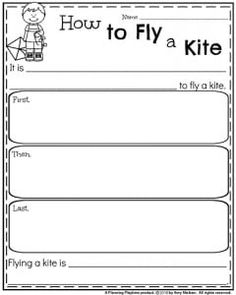 Spring Writing Prompts - Informative Writing Organizer How to Fly a Kite