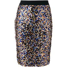 Roseanna sequin pencil skirt (47.075 RUB) ❤ liked on Polyvore featuring skirts, multicolour, pencil skirts, multi color skirt, colorful pencil skirt, multicolor skirt and colorful skirts