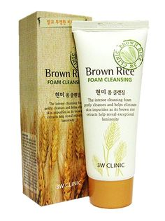 3W Clinic Brown Rice Foam Cleansing 100ml  Makeup Remover Pore Care  Anti- Aging #3WClinicBrownRiceFoamCleansing