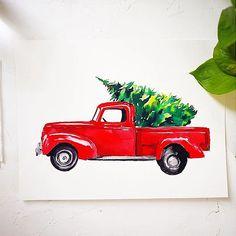 Pick Up Christmas Watercolor Kit - Barris Gumbley Watercolor Kit, Watercolor Projects, Watercolour Tutorials, Watercolour Painting, Watercolors, Painting Tutorials, Art Tutorials, Christmas Truck, Christmas Art