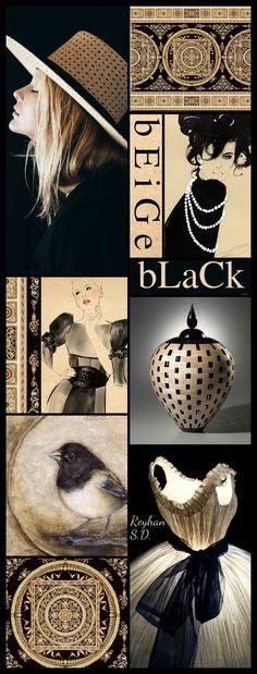 '' Black & Beige '' by Reyhan S.D. Beautiful Color Combinations, Color Combos, Mood Colors, Colours, Wallpaper Aesthetic, Paint Color Schemes, Color Collage, Color Harmony, Colour Board