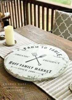 diy wood round sign farmhouse table sign