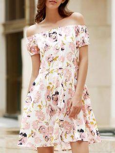 Florales del hombro vestir de manga corta