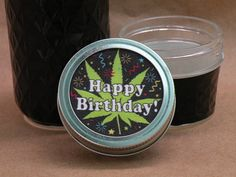 Pot Crock Stash Jars - Cannabis Container & Humidifier Store, Cure & IMPROVE Your Pot!  Happy Birthday! - Pot Crocks™ Original * Signature Cotton lid uses drops of water to maintain ideal 59-63% humidity. (Instructions Included)  * Hand-Painted Surface protects THC from damaging light. Clear bottom and white interior for easy viewing, whether open or closed.  * Glass Interior is safe for trichomes (surface crystals), unlike plastic.  * Pot Crocks bring out the unique scent and flavor ...