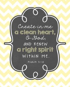 Printable Bible Verse Decor: Clean Heart « Kimberly Geswein Fonts