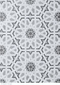 Walker Zanger - Granada in Cafe, Villa D'Oro Collection of Stone Mosaic Stone Mosaic, Stone Tiles, Mosaic Tiles, Floor Patterns, Tile Patterns, Floor Design, Tile Design, Arabesque, Walker Zanger
