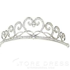 Faddish Cloud Shaped Alloy Inlaid with Rhinestone Wedding Bridal Tiara at Storedress.com