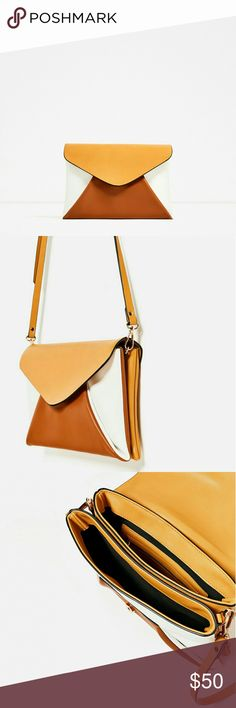"""Zara tricolor clutch Brand new with tags. Contrast colors. Adjustable and detachable shoulder strap. Magnet closure.  20×29×2cm / 7.8×11.4×0.7"""" Zara Bags"""