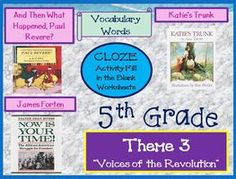 Cloze Worksheets for Houghton Mifflin Harcourt 5th Grade Theme 3