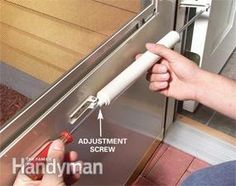 Turn The Adjusting Screw On Storm Door Closers To Make Them Close Smoothly  And Securely.