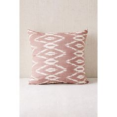 Alyssa Mauve Ikat Pillow ($39) ❤ liked on Polyvore featuring home, home decor, throw pillows, mauve, urban outfitters, ikat home decor, ikat throw pillows, inspirational home decor and cotton throw pillows