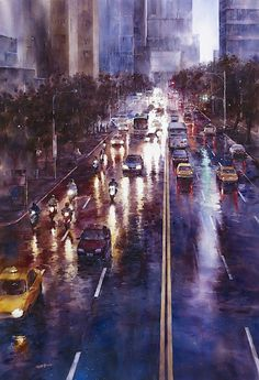 Street Watercolor Paintings by Lin Ching-Che (12 Pictures + Clip)