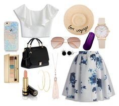 """""""My fav"""" by caity3726 ❤ liked on Polyvore featuring Chicwish, H&M, Miu Miu, Oasis, Bling Jewelry, Lana, Estée Lauder and Gucci"""