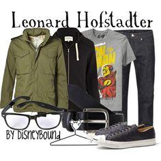 """Leonard Hofstadter"" by lalakay on Polyvore #disney"