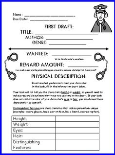 Wanted Poster Book Report Project Templates Worksheets Rubric And More