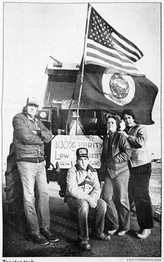 """A tractor drove through Worthington on its way from Canada to Mexico in 1985 in """"an effort to dramatize the need for a minimum price bill and lower interest rates to help farmers survive."""""""