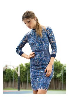 Hemant & Nandita's Mesh Embroidered Leather Dress. Available on portemode.com.