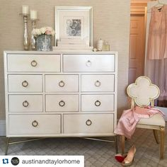 Interior by @alexandrashouse for @austinandtaylorhome ~ Bernhardt Salon Media Chest #pretty #home #interior #interiordesign #instamood #repost from TODAY'S #instagram takeover at Austin & Taylor Home #ontario #canada