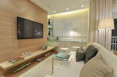 Sala de TV com home office