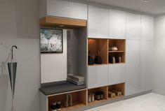 A mudroom is a utility space between the outside and inside of your home but it has to look the part. Here are 2 ideal mudroom designs using IKEA cabinets. Ikea Mud Room, Ikea Laundry Room, Laundry Room Remodel, Laundry Room Design, Home Room Design, Ikea Kitchen Storage Cabinets, Ikea Sektion Cabinets, Mudroom Cabinets, Ikea Hallway