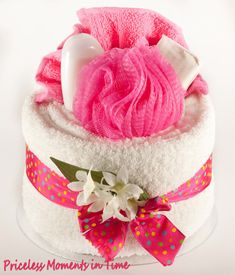 NEW Ladies / Mothers Day / Teachers Pamper Towel Cake Shower Gift (BUY 2 = £45)