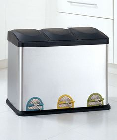 Another great find on #zulily! Medium Step-On Recycling Bin #zulilyfinds
