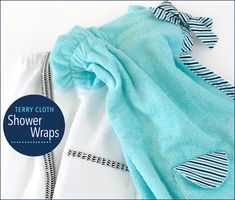Terry Cloth Shower Wraps for Guys and Gals | Sew4Home