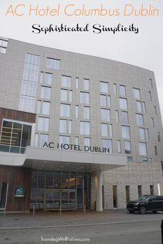 The AC Hotel Columbus Dublin is Marriott's version of a boutique hotel. You get the familiarity of a big hotel chain but the cozy feel of a small private hotel. A stay at an AC hotel gives you all the comforts of a loyalty program with the personalized and intimate service of a private hotel. | TravelingWellForLess.com