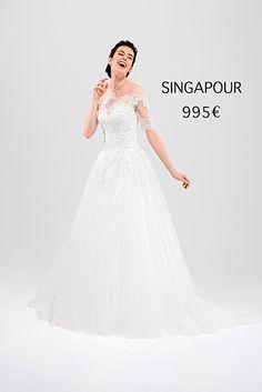 SINGAPOUR One Shoulder Wedding Dress, Marie, Wedding Dresses, Collection, Fashion, Rosa Clara, Princess Silhouette, Atelier, Singapore